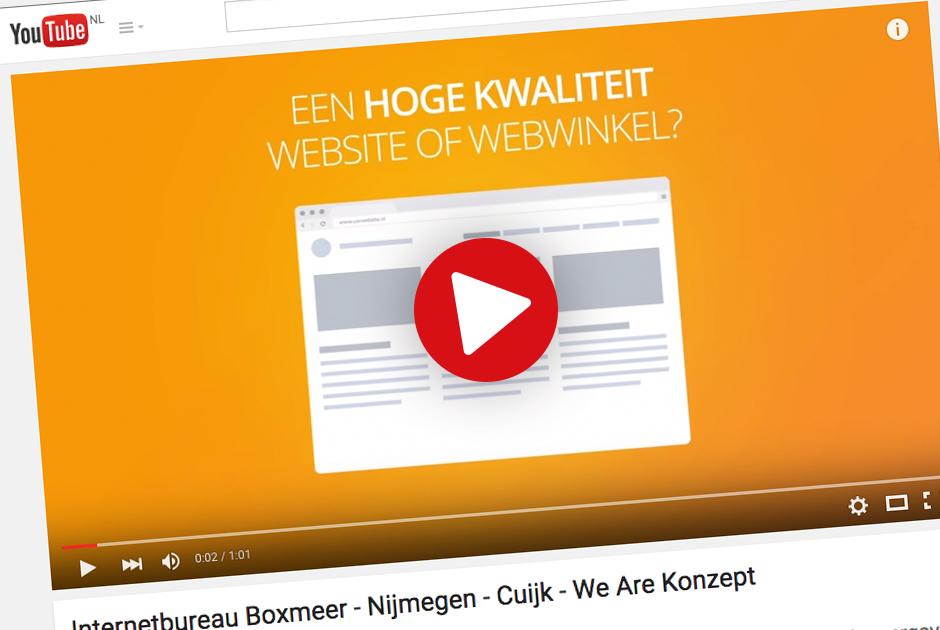 YouTube als marketing tool: zo scoort je video in Google - We Are Konzept | internetbureau - Nijmegen